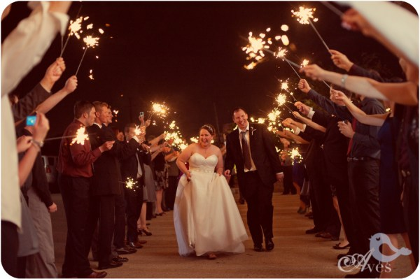 Wedding Photography - Fireworks Exit