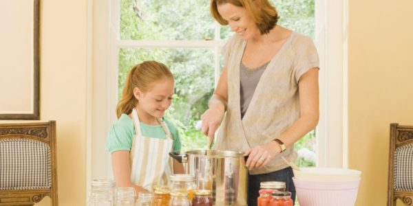 Creative Ways to Save Money - Canning with Kids
