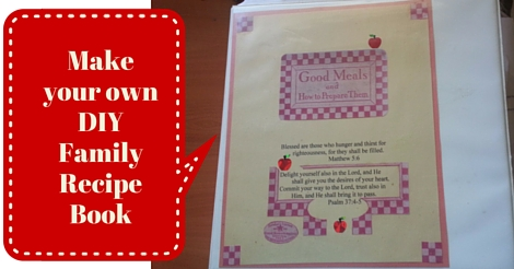 Make your own DIY Family Recipe Book