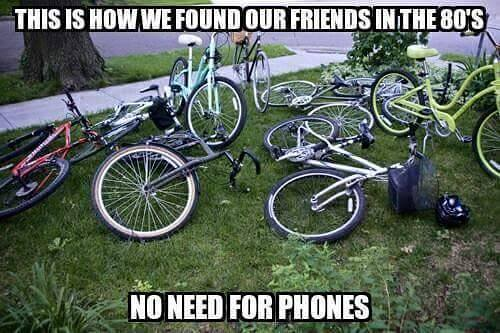 80s Items to Laugh About - No Cell phones