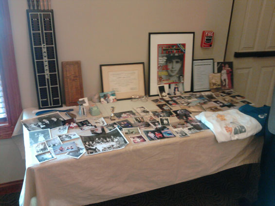 Celebration of Life Party - Memory Table