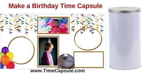 Birthday Time Capsule - DIY