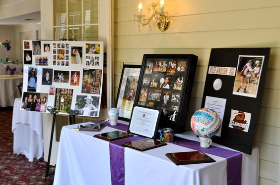 Graduation Party Ideas - Memory Table Set Up | Time ...