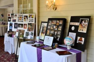 Graduation Party Ideas - Memory Table Set Up