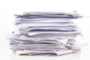 Keeping Household Records - Pile of Papers