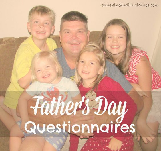 Memorable Father's Day Gifts - Questionnaires