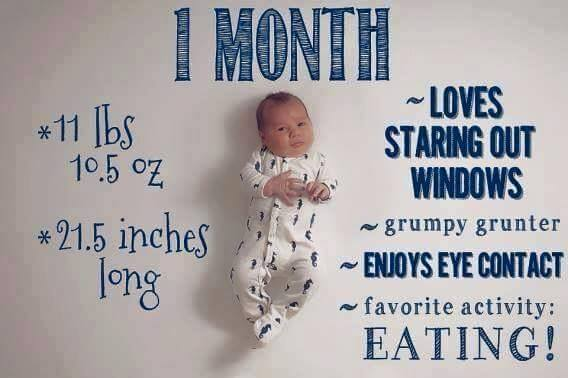 Memories from Baby's First Month