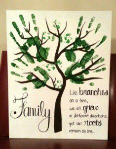 Hand Print Crafts to Cherish - Family Tree