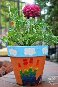 Hand Print Crafts to Cherish - Flower Pot