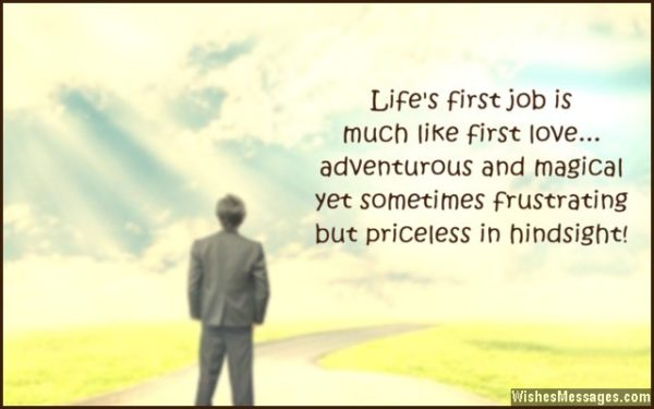 First Job Experience - Quote