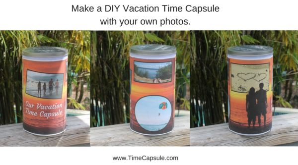 Anniversary to Remember - Make a DIY Vacation Time Capsule with your own photos.