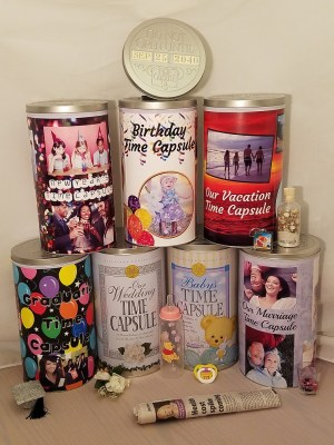 Creating a Time Capsule - Time Capsules Stacked - Small Photo