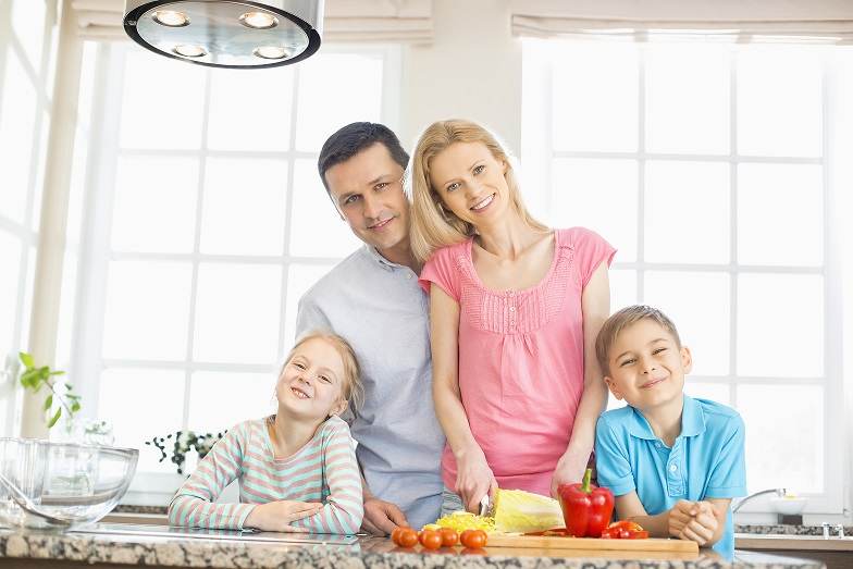 Family Habits - Family making healthy food