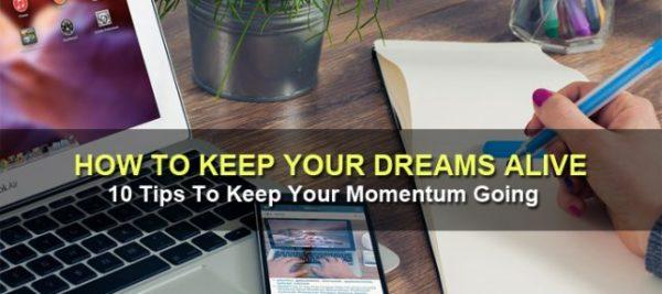 Keep Dreams Alive - Write Down Goals