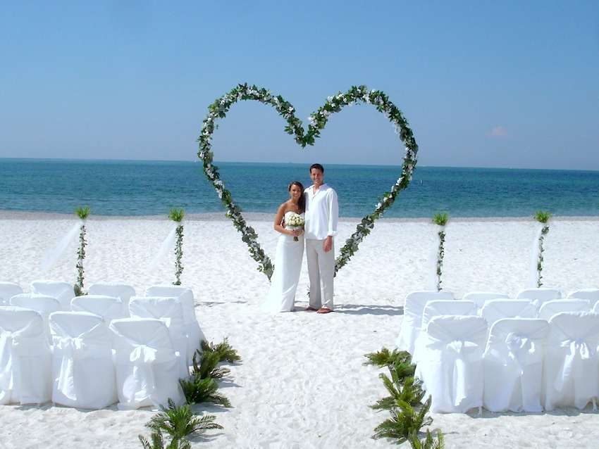 Beach Wedding Ideas - Married Couple