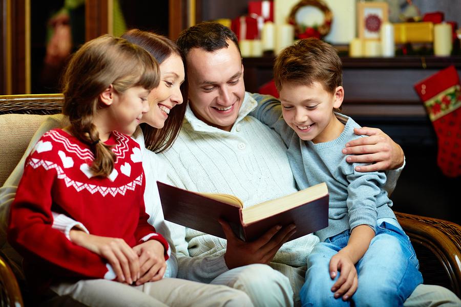 Family Bonding - Reading a good book