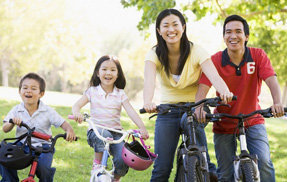 Family Bonding - Riding Bikes Together