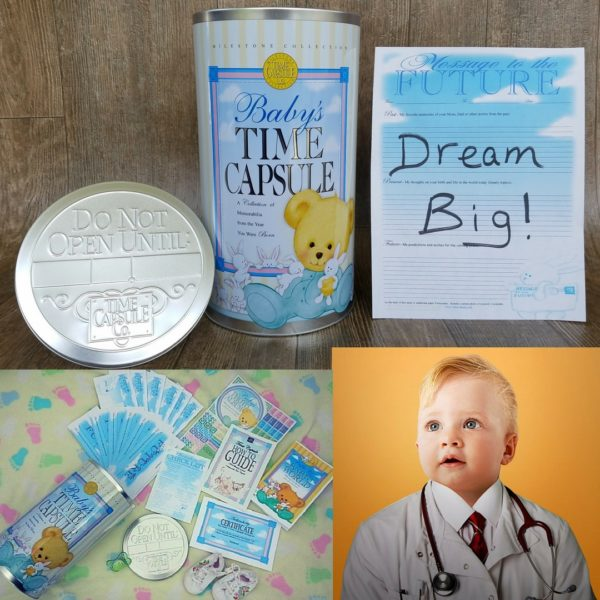 How to Make a Time Capsule with Kids - Baby TC with - Dream Big Message