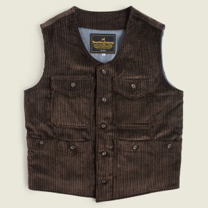 French Hunting Vest Corduroy Workwear