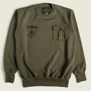 Vintage Military Sweatshirt US Army Camp