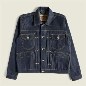 Vintage Workwear Selvedge Raw Denim Jacket