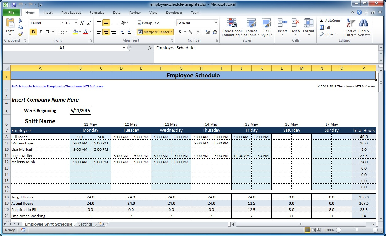 Manage homework assignments or group projects with an excel schedule template. Free Employee And Shift Schedule Templates