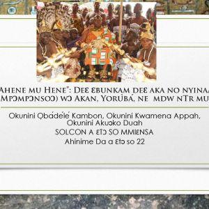 """""""Ahene mu Hene"""": Deɛ Ɛbunkam deɛ aka no nyinaa (Mpɔmpɔnsoɔ) wɔ Akan, Yorùbá,nemdw nTr mu"""