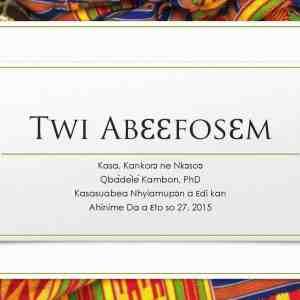 Twi Abɛɛfosɛm: Kasa, Kankorɔ ne Nkɔsoɔ (Twi Neologisms: Language, Progress and Development)
