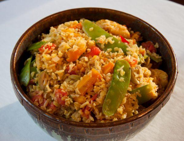 Saffron Rice with Summer Vegetables