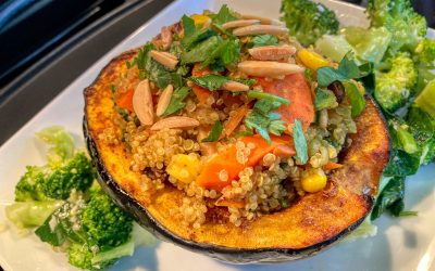 Roasted Acorn Squash with Curried Quinoa