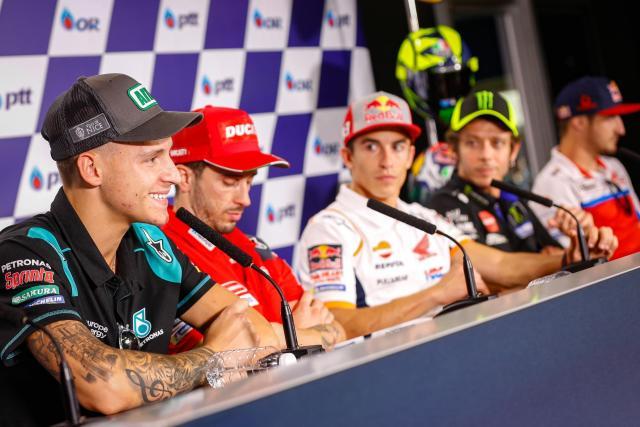 Fabio Quartararo y sus compañeros de MotoGP