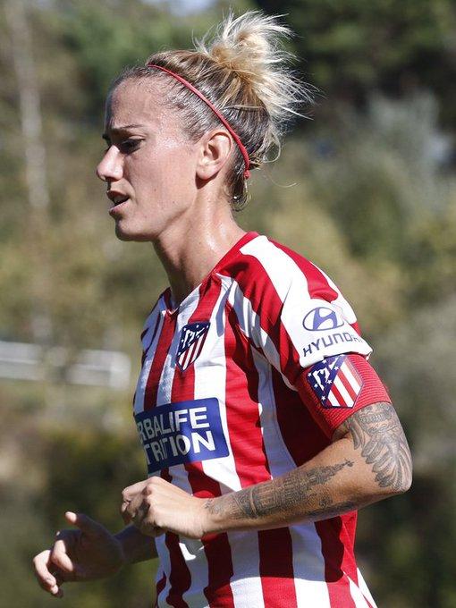 Ángela Sosa durante el partido