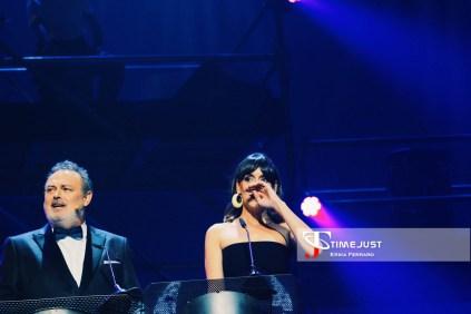 Cuesta y Carbonell presentando la gala