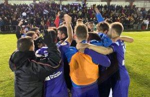 El Becerril celebrando el pase a la siguiente fase de la Copa del Rey