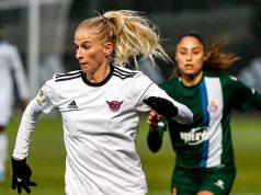 Sofia Jakobsson, delantera del CD Tacón, contra el Espanyol