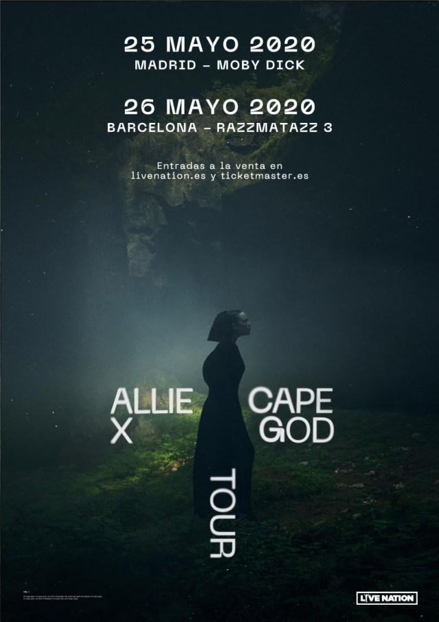 Cartel del tour de Allie X en España