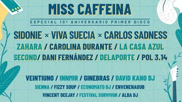 Cartel de confirmados del Capital Fest 2020: // Fuente: Capital Fest