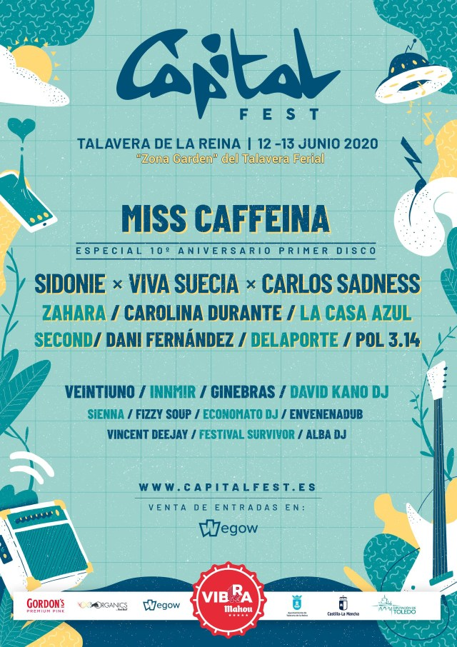 Cartel de confirmados del Capital Fest 2020: // Fuente: Capital Fest