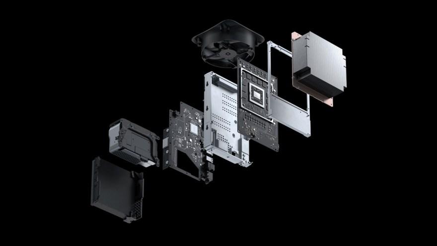 El interior de la nueva Xbox Series X