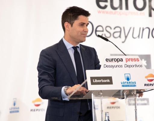 Aganzo en un Desayuno Deportivo de Europa Press