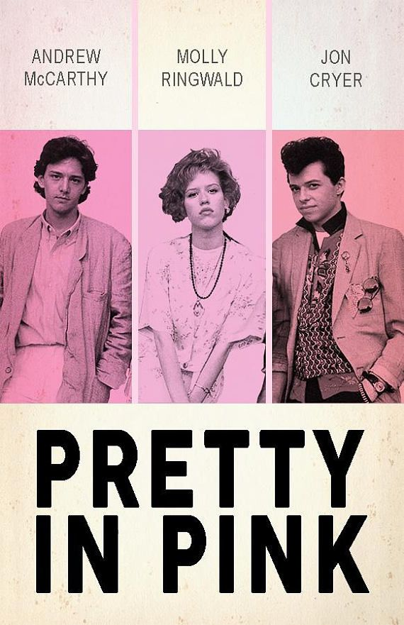 "Póster película ""Pretty in pink"""