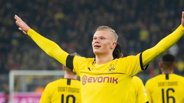 Haaland en sus primeros partidos con el Dortmund, vía web UEFA (https://es.uefa.com/)