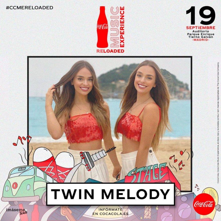 Cártel de Twin Melody en el festival CCME Reloaded.   Fuente: CocaCola Music Experience