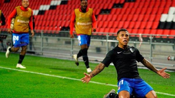 Darwin Machís celebrando el gol de la victoria (1-2) | @GranadaCF