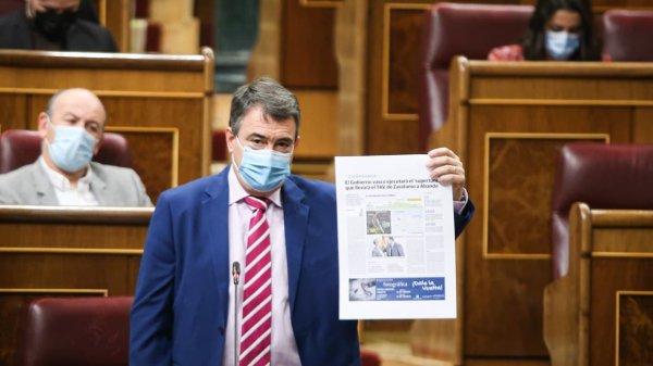 Aitor Esteban en el Congreso.