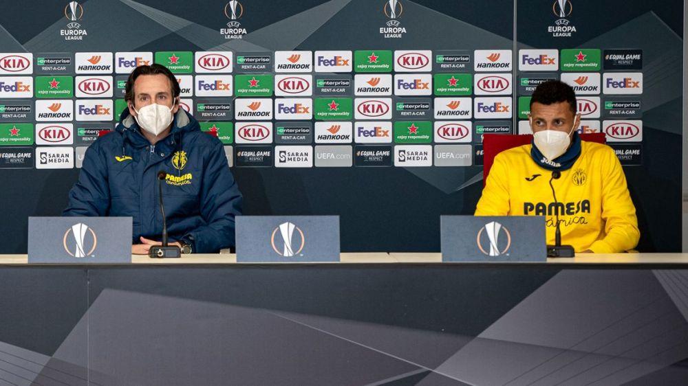 Emery y Coquelin en la rueda de prensa previa al partido / Fuente: villarrealcf.es