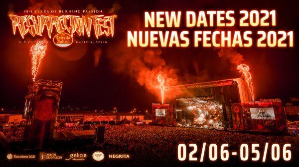 Cartel anunciando fechas Resurrection Fest 2021