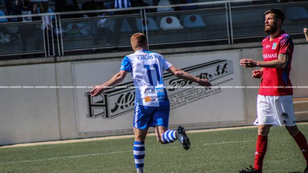 Vicente anotó dos goles para dar la victoria al Ejea   @TimeJust