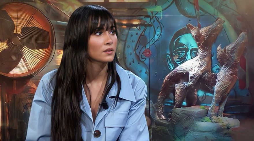"""Imagen de Aitana durante la entrevista en La Resistencia con David Broncano/ Fuente: """"La Resistencia en Movistar+"""" en YouTube"""