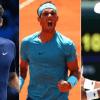 Roger Federer, Rafa Nadal y Novak Djokovic.